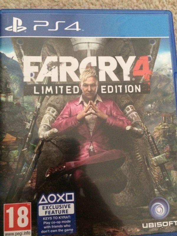 Far Cry 4 for the PS4 Playstation 4 used one in like new condition for sale or trade