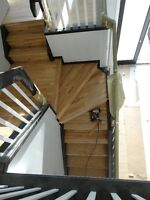 Hardwood from $1.50 and laminate $1.20sqf installation