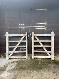 2 wooden garden gates