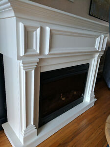 White eclectic fire place (needs repair)