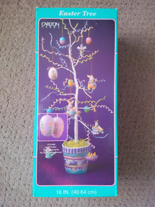 Easter tree with hanging decorations