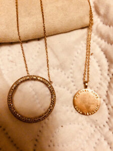 Michael Kors Rose Gold necklace set