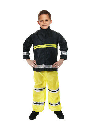New Boys Fireman Sam Fire Fighter Fancy Dress Up Costume Kids Outfit XMAS Party - Firemen Costumes