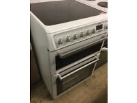 Hotpoint white Electric Cooker 60cm Wide,