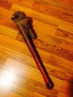 "24"" Heavy Duty Ridget Cast Iron Straight Wrench / Pipe Wrench"