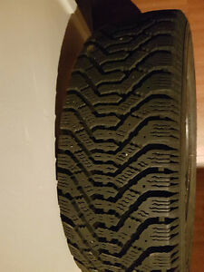 Three tires size 175/65/14 Nordic winter tires good condition.