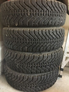 4 GOODYEAR Winter Tires P185/65R14 (with RIMS)