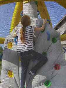 Little Tykes blow up climbing wall