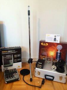 CAD trion 8000 + Behringer XENYX Q802USB + Mic stand+ Pop filter West Island Greater Montréal image 10