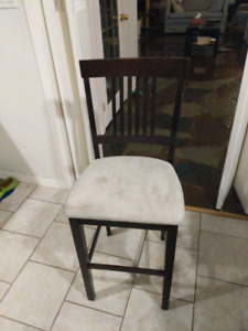 Bar style table with 4 stool height chairs