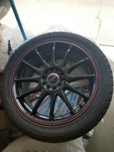 "MINT CONDITION Tires and 17"" Rims! - 225/45R17 - 5x114.5"