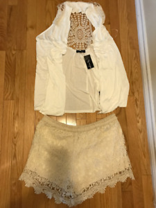 LILY MORGAN 2 PC LACE  SHORT SET SZ XL NEW WITH TAGS
