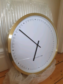 NEW Large gold wall clock