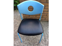 Ikea STOLJAN Conference chair, Blue, Black As New Condition