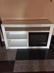 White Electric Fireplace Heater - Asking $250 OBO