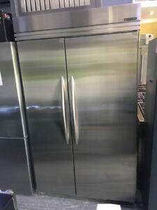 """Kitchenaid stainless Steel 48"""" Side By Side Fridge $1899"""