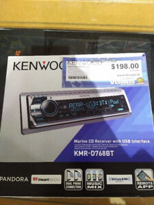 Kenwood single din marine deck