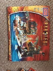 7 Megabloks Pirates Pyrates sets including ship