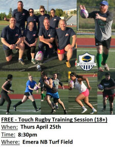 Free - Co-Ed Touch Rugby Training Session (18+) - Thu Apr 25th