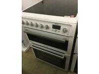 Hotpoint Electric Cooker, Ceramic , Fan assistant, 60cm Wide