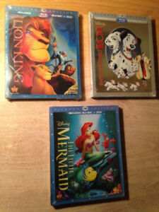 BluRay Disney Neuf! Roi Lion 1- 1.5- 2, Bambi- Peter Pan. !!