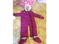 Girls snowsuit 18-24 months never used