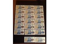 Brand new ac code 5 pound notes