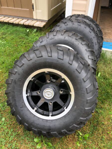 4 brand new ATV tires with rim   2- 25/8/12 and 2 - 25/11/12