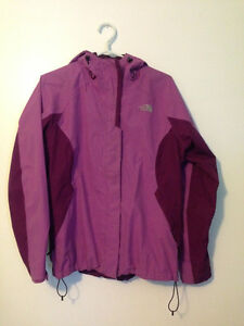 Purple North Face Jacket with detachable fleece liner