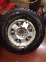 Two Studded Winter Tires P235/75R15