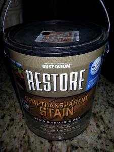 1 Full Unopened Can Rustoleum Restore Transparent Deck Stain
