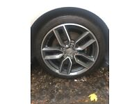 "4 Genuine Audi 18"" S3 8V Alloy Wheels with Continental Tyres"