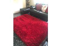 Ex next deep pile red rug ,