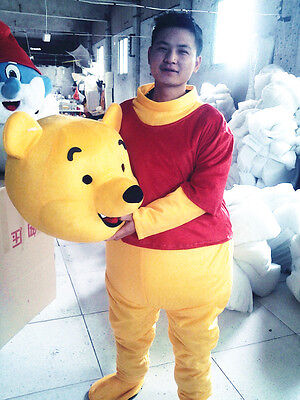 Winnie The Pooh Mascot Costume Halloween Party Adult Fancy Dress Cartoon Cosplay - Winnie The Pooh Halloween Costumes Adults