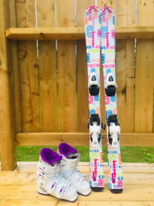Girls Skis, Boots and Bindings