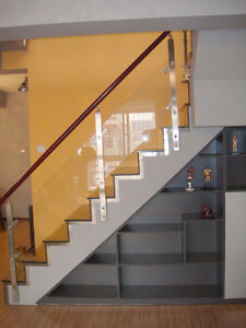 Glass Railings with Stainless steel balusters and hardware St. John's Newfoundland image 1