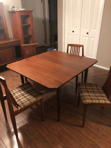 Dinning table, chairs and cabinet