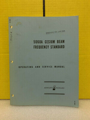 Hp 5060a Cesium Beam Frequency Standard Operating And Service Manual