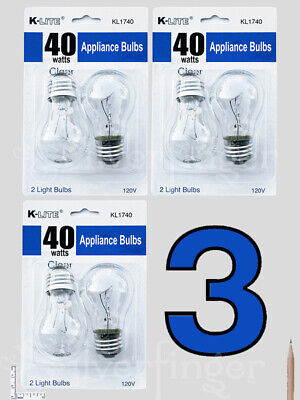 4—6 pcs Appliance Light Bulbs Refrigerator Freezer Oven Microwave Fridge A15 40W