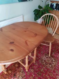 Earsham Hall Pine table and 4 chairs