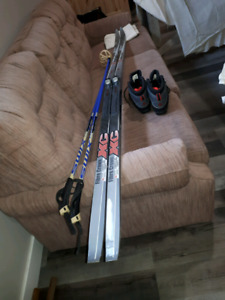 Men's Cross Country Skis, Bindings, Boots, and Poles