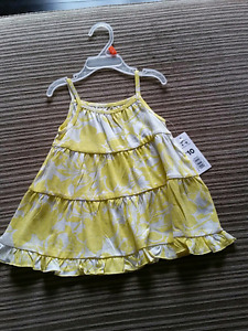 Yellow dress new with tags 6-12 months