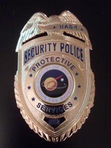 OFFICIAL NASA SECURITY POLICE PROTECTIVE SERVICES BADGE.