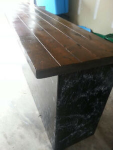 Black Marble Effect Bar counter