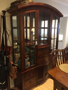 Solid Wood Hutch and Dining Room Table