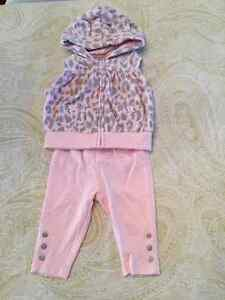 3 to 6 Month Carters legging and hooded vest