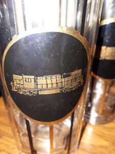 Awesome vintage Train glasses