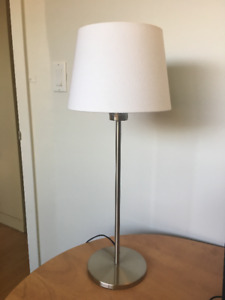 Table Lamp - Great Condition, Silver/White
