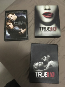 True Blood DVD box sets and Twilight 3 disc deluxe edition