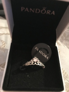 Pandora Fairytale Tiara Ring with CZ.